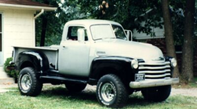This is a picture of a 1948 Chevrolet Pick up that I built