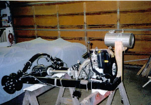 Picture of the Cushman's frame during Restoration