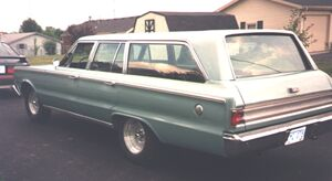 Picture of the Left Rear Side of Bob's 66 Plymouth Wagon